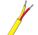 Flat Twin PVC Insulated Single Pair Thermocouple Cable