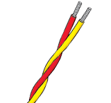 Twisted PVC Insulated Single Pair Thermocouple Cable