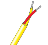 Twisted & Oversheathed PVC Insulated Single Pair Thermocouple Cable