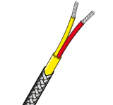 Twisted & Screened PVC Insulated Single Pair Thermocouple Cable