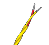 PFA Insulated Twisted & Oversheathed Single Pair Thermocouple Cable