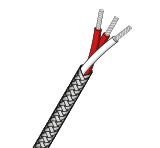 PFA Insulated RTD Cable With Stainless Steel Braid