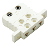 Three Pin Miniature Thermocouple Panel Socket