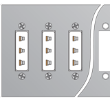 Thermocoule Connector Panel With Mounting Holes