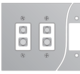 Standard Connector Panel Without Mounting Holes