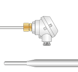 Reduced Tip Resistance Thermometer With Micro Head